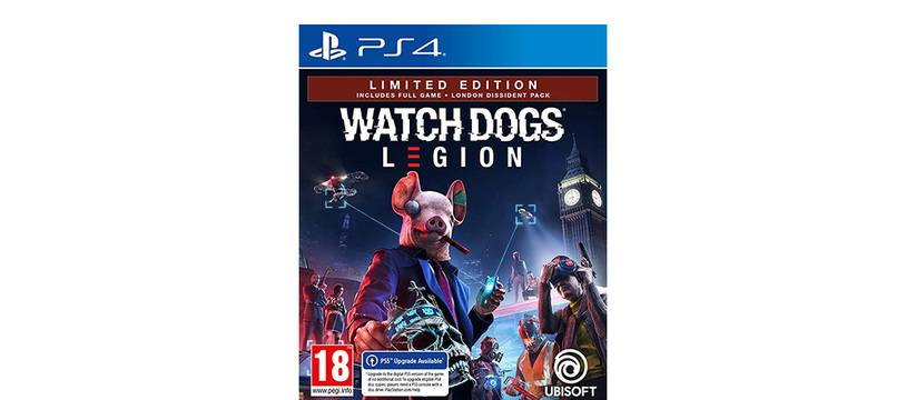 Le jeu Watch Dogs Legion sur PS4.