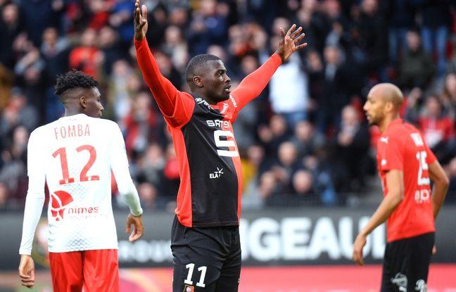 Stade Rennais-Nîmes: Grâce à Niang, Rennes retrouve l'efficacité et sa place sur le podium