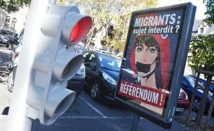 La campagne de la ville de Béziers sur son référendum sur les migrants.