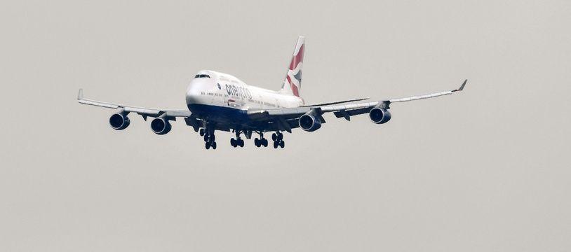 """Un Boeing 747 """"Jumbo Jet"""" de la compagnie British Airways."""