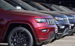 Des voitures Cherokee chez un concessionnaire dans le Colorado, le 24 janvier 2021.