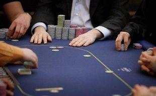Illustration: table de poker.