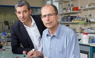 Philippe Cinquin et Serge Cosnier, les co-inventeurs de la biopile