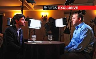 L'officier Darren Wilson (droite), sur la chaîne ABC, le 25 novembre 2014, raconte sa version de la mort de Michael Brown, à Ferguson, le 9 août 2014.