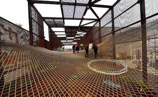 Le pavillon brésilien à l'Exposition universelle de Milan, le 1er mai 2015