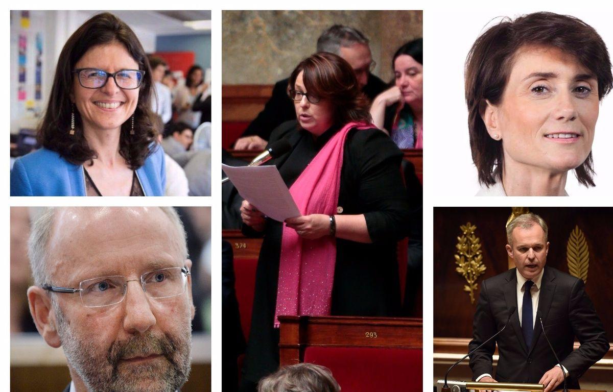 Valérie Oppelt, Yannick Haury, Sophie Errante, Sandrine Josso, François de Rugy, députés LRE – montage 20 Minutes