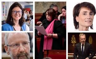 Valérie Oppelt, Yannick Haury, Sophie Errante, Sandrine Josso, François de Rugy, députés LRE