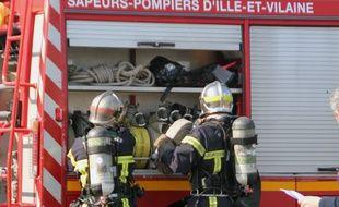 Illustration de l'intervention de pompiers. Ici lors d'un exercice à Rennes.