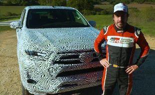 Alonso et la Toyota Hilux