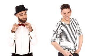Caruso et manu Galaine, les deux chanteurs toulousains, candidats lors de l'émission La Nouvelle Star sur D8