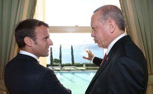 Emmanuel Macron et Recep Tayyip Erdogan à Istanbul le 27 octobre 2018