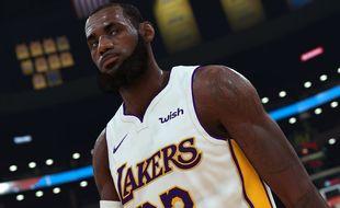 James LeBron, une des nombreuses stars de la NBA présente dans le titre.