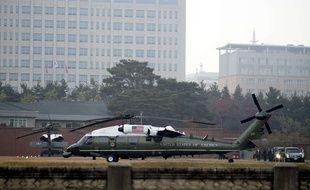 Les hélicoptères présidentiels ont dû rester au sol.