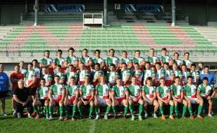 L'équipe seniors du Stade Nantais rugby