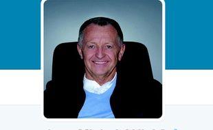 Capture d'écran du profil de Jean-Michel Aulas sur Twitter