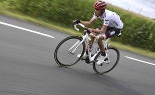 Alberto Contador lors de l'étape Eymet-Pau le 12 juillet 2017.