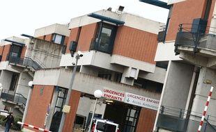 Illustration d'un bâtiment de l'hôpital de Purpan à Toulouse. Toulouse, FRANCE-15/01/14