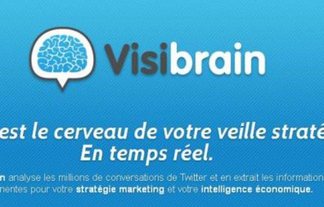 Capture d'écran du site Visibrain