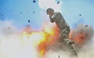 La photographie de Hilda Clayton prise au moment de l'explosion en Afghanistan, le 2 juillet 2013.