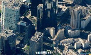 Le quartier de la Défense dans Bing Maps, avec son nouveau effet 3D
