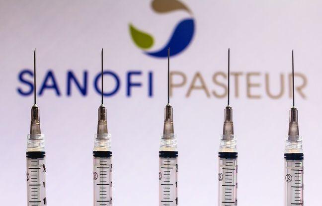 648x415 logo sanofi devant doses vaccin illustration