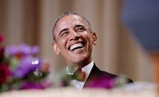 L'ancien président des Etats-Unis, Barack Obama, au dîner annuel de l'Association des correspondants de la Maison Blanche en 2016