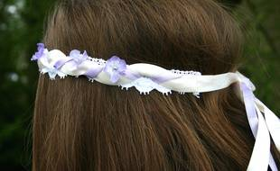 Un headband printanier créé par Jade