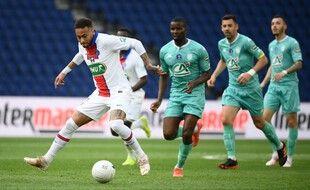 Neymar double la mise un peu n'importe comment face à Angers, le 21 avril 2021.