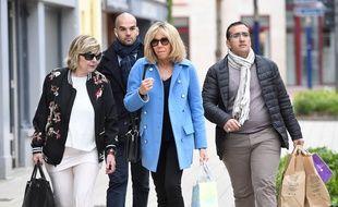 Michèle Marchand alias «Mimi» avec Brigitte Macron au Touquet lors de la campagne présidentielle en 2017.
