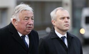 Gérard Larcher, président du Sénat, et François de Rugy, président de l'Assemblée nationale, le 13 novembre 2017 à Paris.