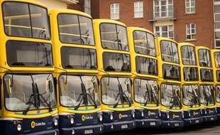 Des bus à Dublin, en Irlande (illustration).