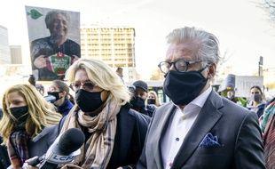 Gilbert Rozon à son arrivée au tribunal de Montréal, le 6 novembre 2020.