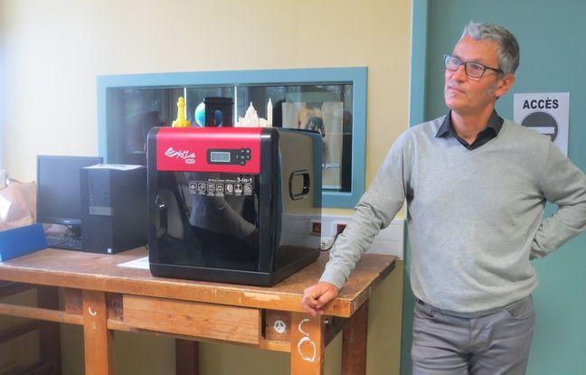 Une imprimante 3D au collège Libertaire-Rutigliano à Nantes
