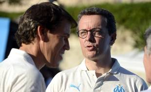 Rudi Garcia et Jacques-Henri Eyraud, début juillet 2018.