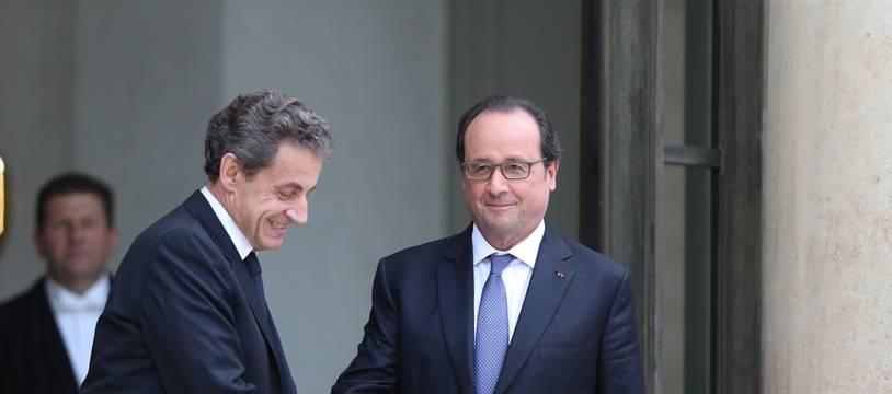 François Hollande et Nicolas Sarkozy le 25 juin 2016.