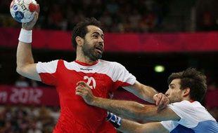 Le joueur tunisien Heykel Megannem, le 4 août 2012 à Londres.