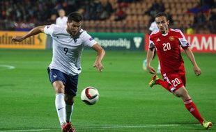 Gignac a marqué des points en Arménie, le 14 octobre 2014 avec les Bleus.