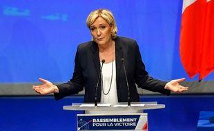 Marine Le Pen lors du Congrès du parti à Lille, le 11 mars 2018.
