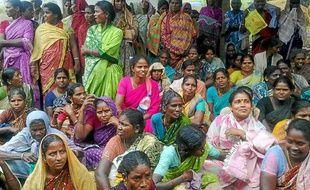 Réunion des villageoises de Thervoy Kandigai dans le Tamil Nadu.