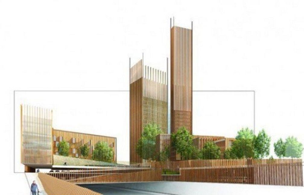 paris a quand une tour en bois dans le ciel de paris. Black Bedroom Furniture Sets. Home Design Ideas