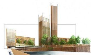 REI Habitat a imaginé deux tours de 50 mètres dans le ciel de Paris.