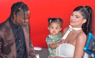 Le rappeur Travis Scott, Kylie Jenner et leur fille Stormi