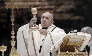 Le pape François célébrant la messe de l'Epiphanie, le 6 janvier 2020, au Vatican. (illustration)