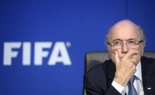 Sepp Blatter au siège de la Fifa le 20 juillet 2015.