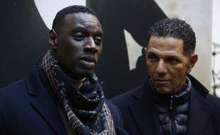 Omar Sy et Roschdy Zem à Paris, le 20 janvier 2016.