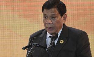 Le président philippin Rodrigo Duterte