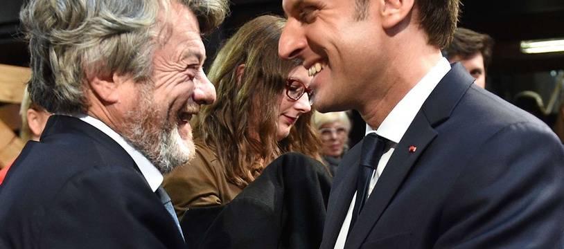 Jean-Louis Borloo et Emmanuel Macron, le 14 novembre 2017 à Tourcoing.