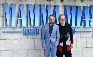 Björn Ulvaeus et Benny Andersson, deux des membres d'ABBA, à l'avant-première de «Mamma Mia! Here We Go Again» le 16 juillet à Londres.