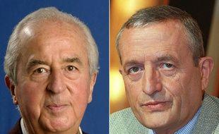 L'ancien Premier ministre Edouard Balladur et son ex-ministre François Léotard.