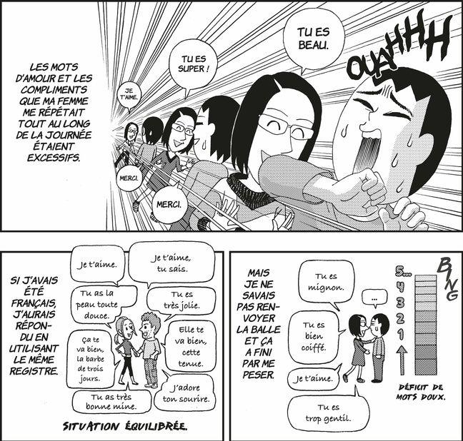 Planche extraite du manga A nos amours